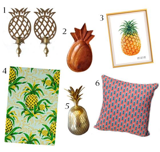 Pineapple Decor Accessories Design Welcome