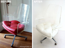 Lucite Chair Before & After