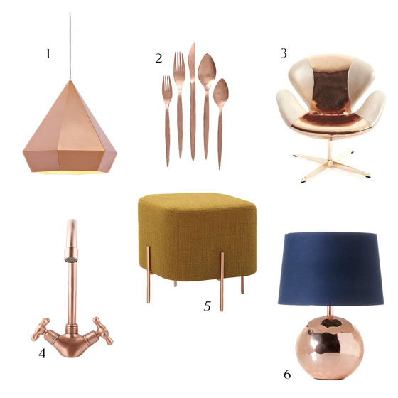 Trendcasting Rose Gold Copper Decor This Way Home