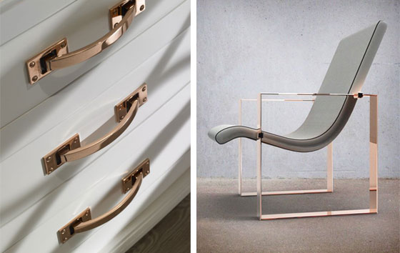 Rose Gold Chair This Way Home