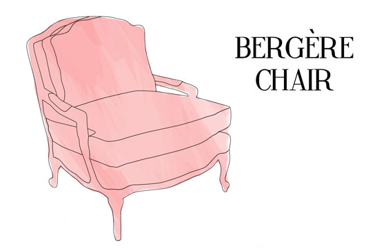 Bergere Chair Illustration