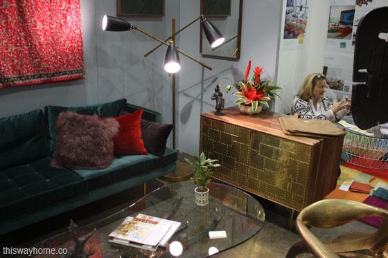Organic Modernism booth dwell on design
