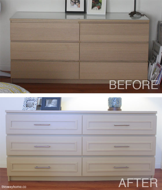 Ikea malm before and after this way home Ikea furniture makeover