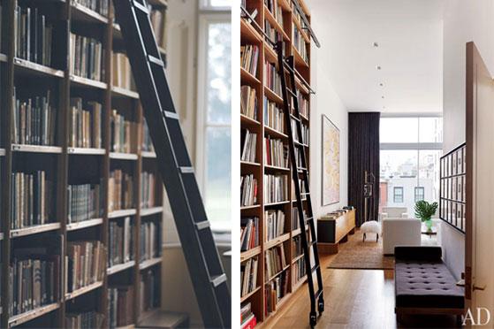 Library Ladder Hall Hallway Rolling Ladder