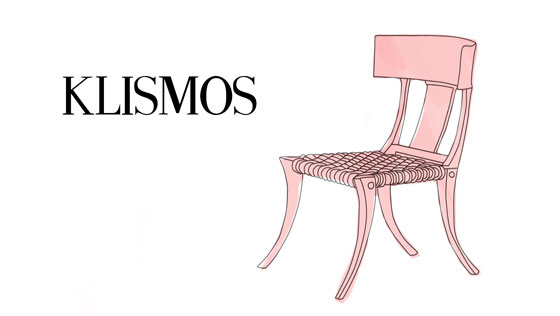 I have been reading a lot about ancient furniture lately, and it's  fascinating to trace iconic furniture designs to their roots in antiquity. - Style Guide: Klismos Chair This Way Home