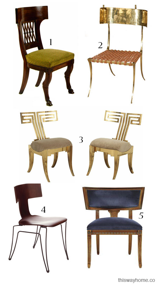 Style Guide Klismos Chair