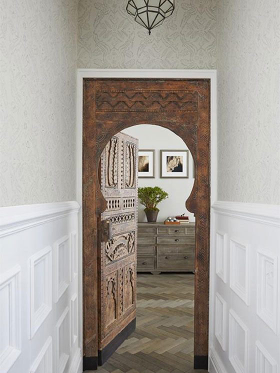 Genevieve Gorder Manhattan apartment Moroccan door