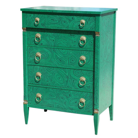 Faux Malachite Dresser