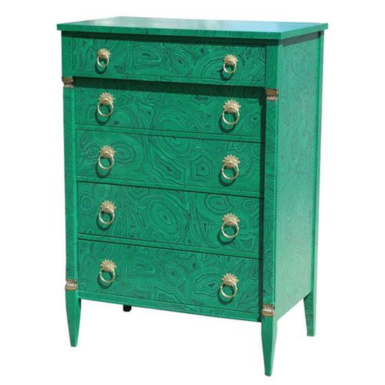 Faux Malachite Dresser