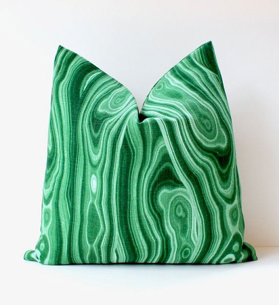 Malachite Pillow