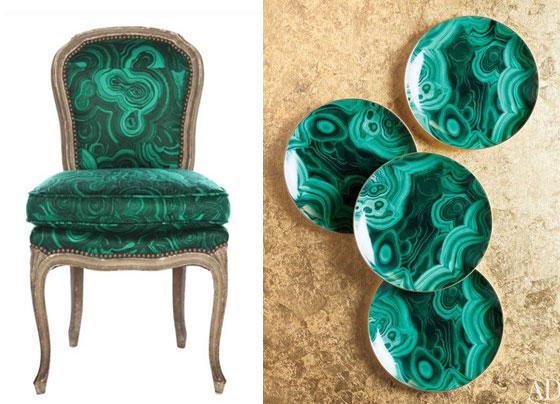 Malacite Chair Plates