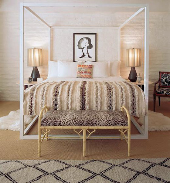 Le Parker Meridien moroccan wedding blanket modern four poster bed