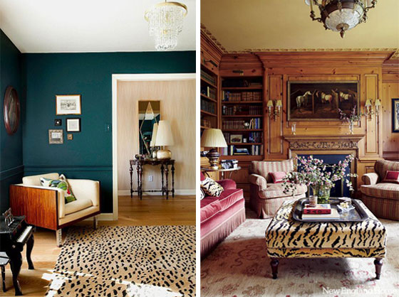 How to decorate with animal prints this way home for Leopard print living room ideas