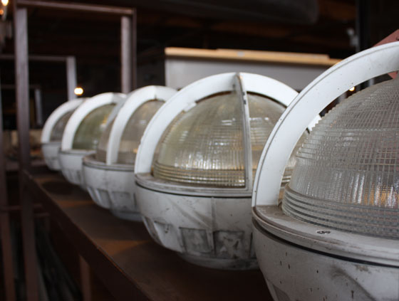 Architectural Salvage One Industrial Light Fixtures