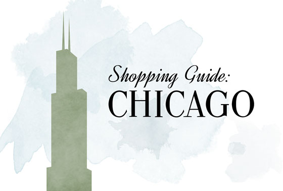 Willis Tower Illustration Chicago Shopping Guide Antiques Vintage Architectural Salvage