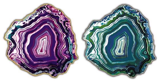 Studio Bijoux Etage Rug Agate Amethyst Azure Geode Geological Mineral Crystal Decor Design Trend