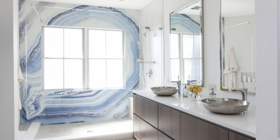Jared Sherman Epps JSE Blue Agate Wall Bathroom Design Decor Trend