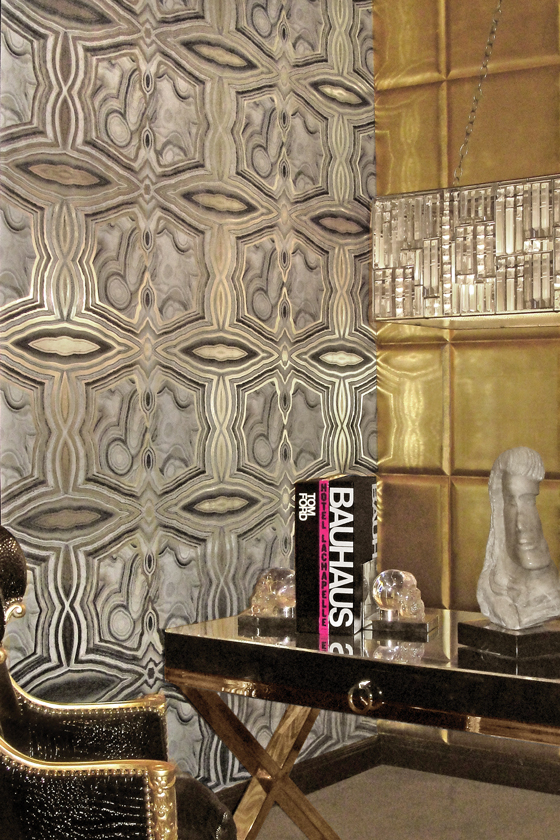 Rock On Kimberly McDonald Circa Wallcovering Lace Agate Natural Geode Geological Mineral Crystal Design Decor Trend