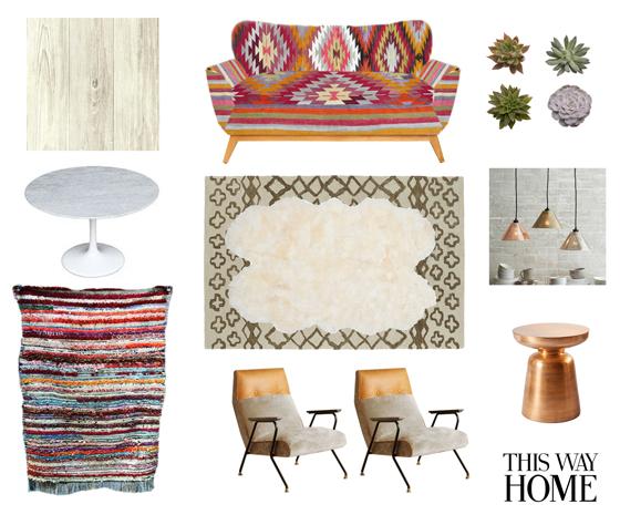 Boho Bohemian Eclectic Design Kilim