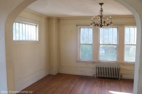 Brackett Flip House Dining Room Before