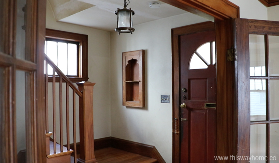 Brackett Flip House Entryway Foyer Before