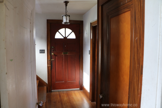 Brackett Flip House Entryway Foyer Before