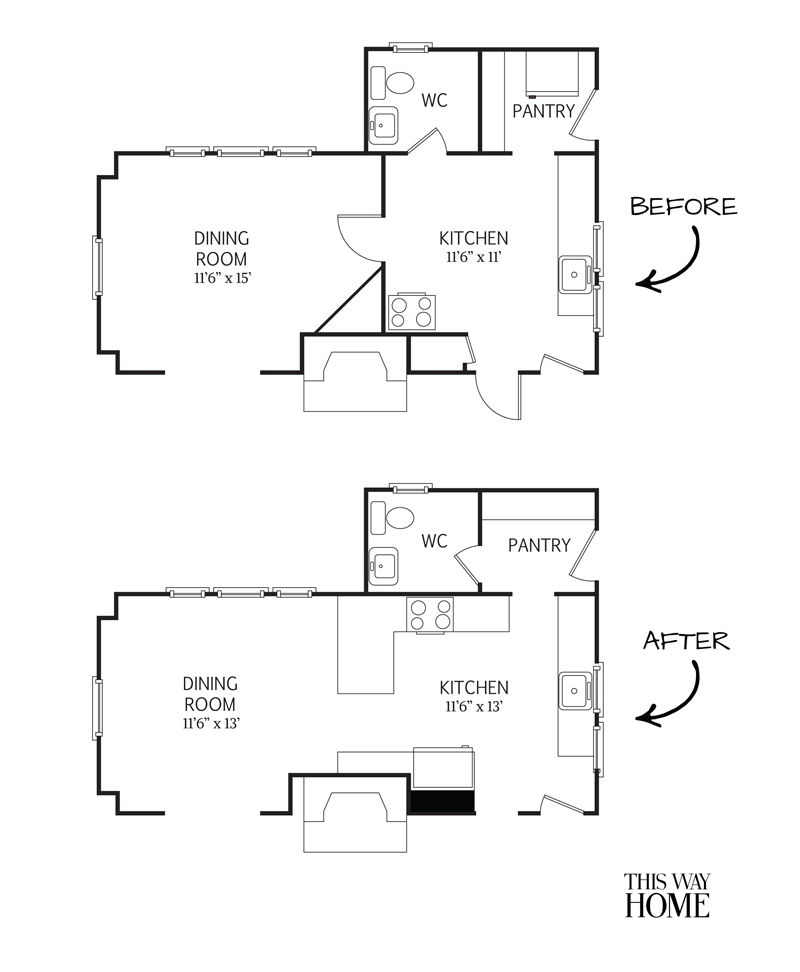 Flip House First Floor Plan Design