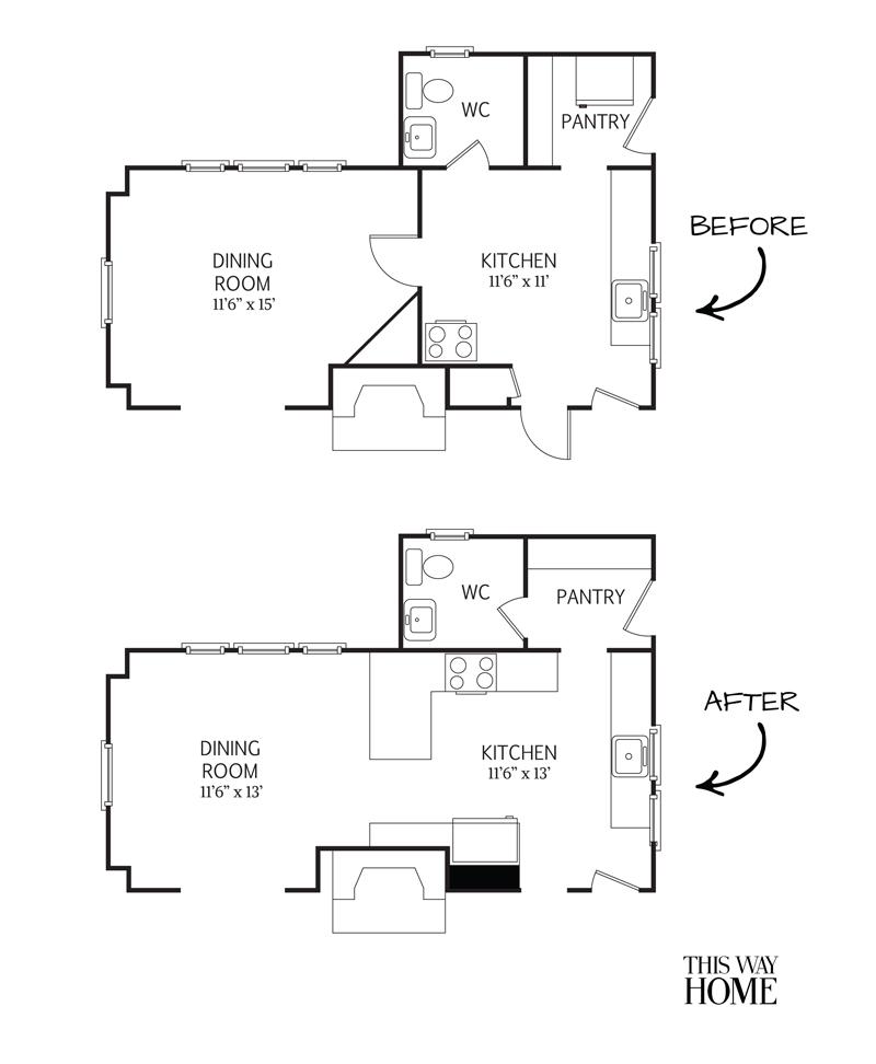 Flip House First Floor Plan Design